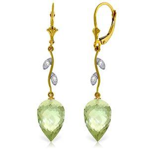 DIAMONDS & DROP BRIOLETTE GREEN AMETHYSTS